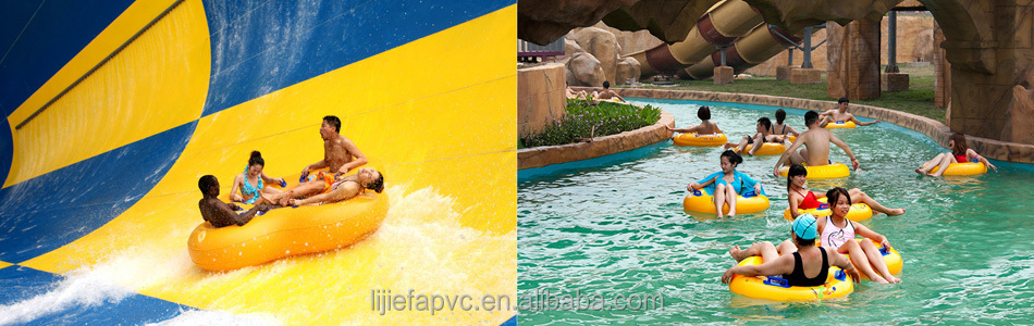 A Yellow Raft In Blue Water Quotes: River Drifting Inflatable Floating Double Ring Waterpark