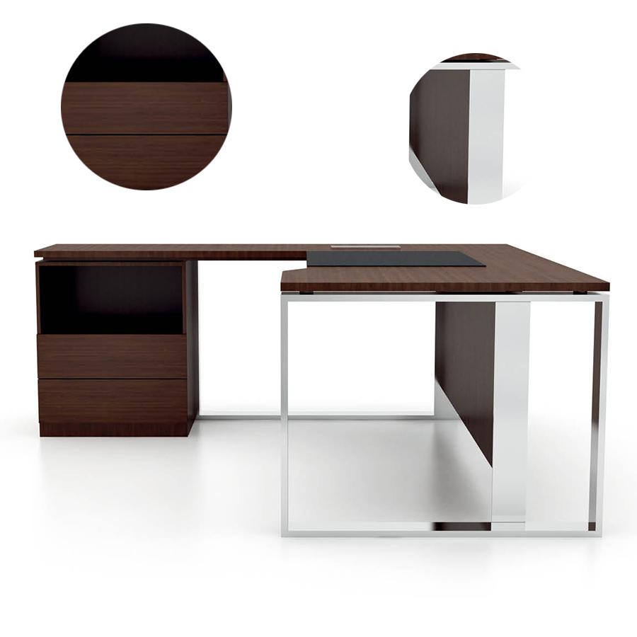 Moderno escritorio ejecutivo oficina modelos de dise o - Modelos de escritorios de madera ...