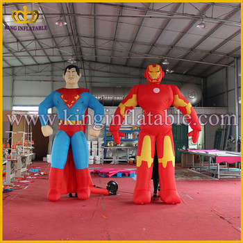 Customized Party Decoration Inflatable Super Hero Figures, 3m Inflatable Iron Man