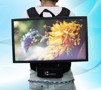 22 Inch Cheap Hot Video Player LCD Panel Displaying Screen Portable Mobile Backpack Advertising Players