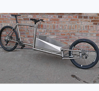 titanium cargo bike frame with couplers titanium bicycle bike frame custom ti cargo bike frame custom