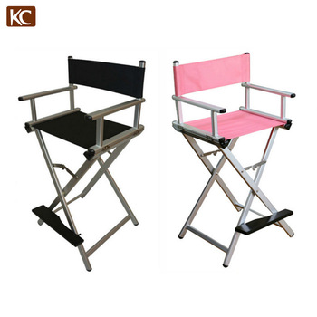 New Design used cheap wood tall aluminum folding director chair, metal frame aluminum director chair