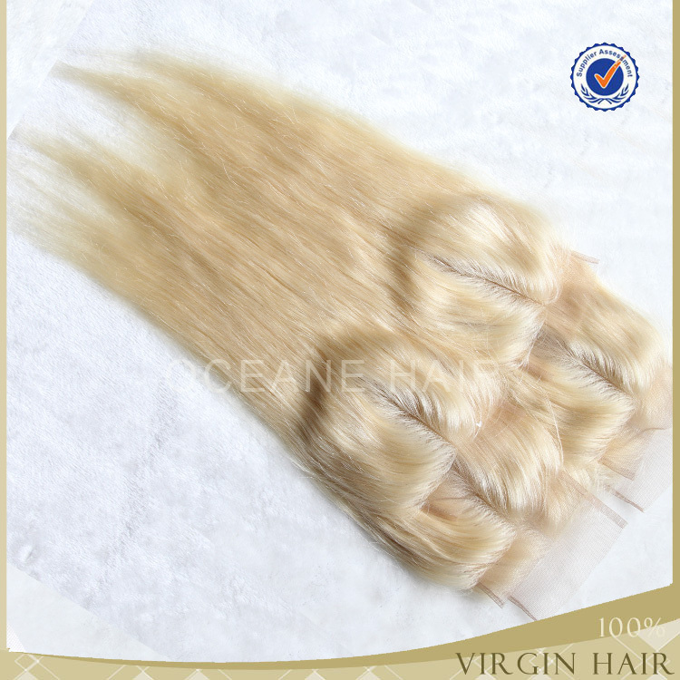 Hot Top Grade 613 Blonde Hair Color 2part Virgin Brazillian Hair ...