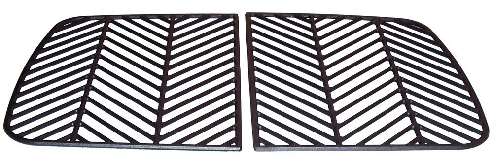 Music City Metals 67302 Matte Cast Iron Cooking Grid Replacement for Gas Grill Model Uniflame GBC730W, Set of 2
