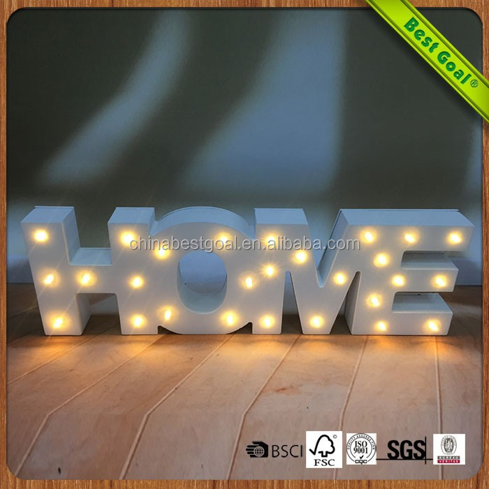 LOVE letters certified indoor wooden led signs lamp