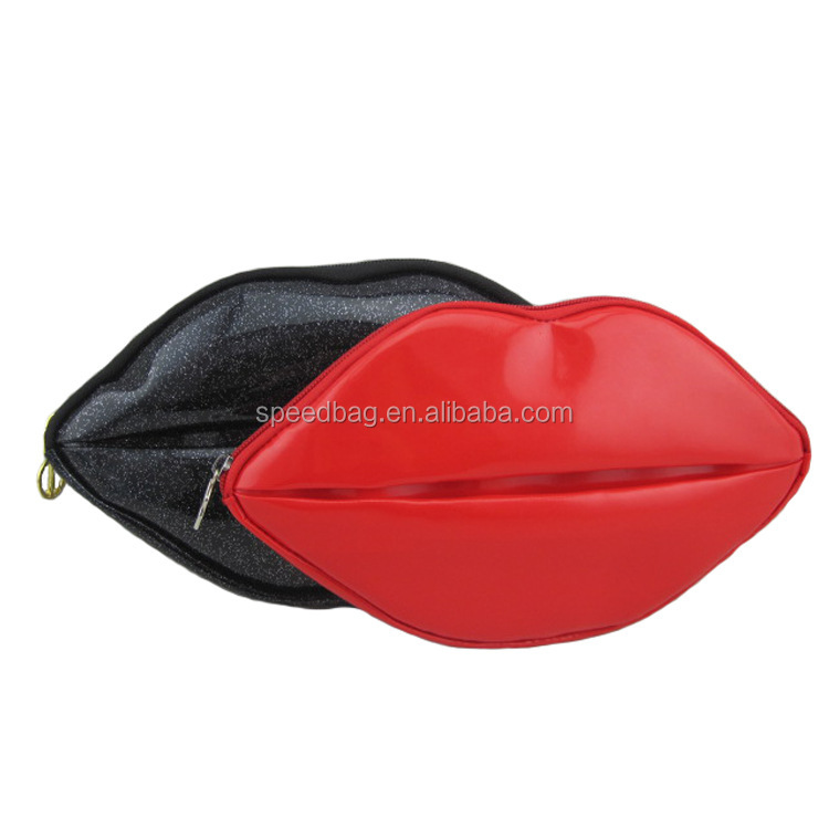 Men wash bag double zipper PU leather bag cosmetic bag for man