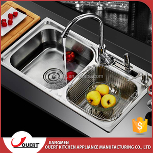 Free Anti Dumping Exported From Malaysia Modern Kitchen Designs Stainless Steel 304 Double Bowl Apartment
