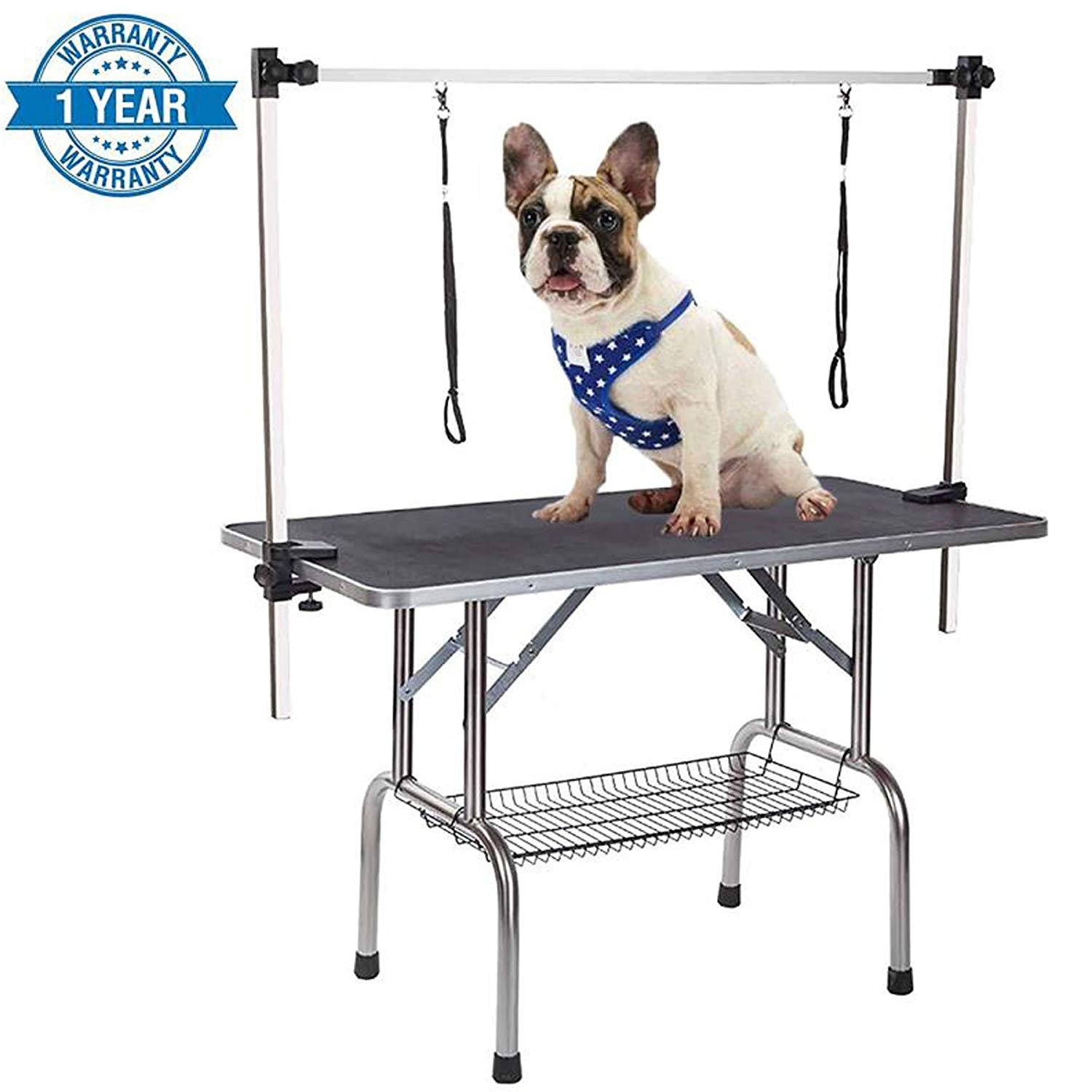 Affordable Dog Grooming Table Arm Get Quotations · Gelinzon Dog Grooming Table Large Heavy Duty Portable with  Adjustable Arm and Clamp