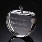laser engraving crystal apple paperweight wedding favors gifts