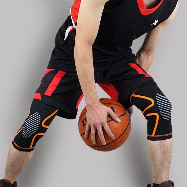 youth basketball compression tights with knee pads