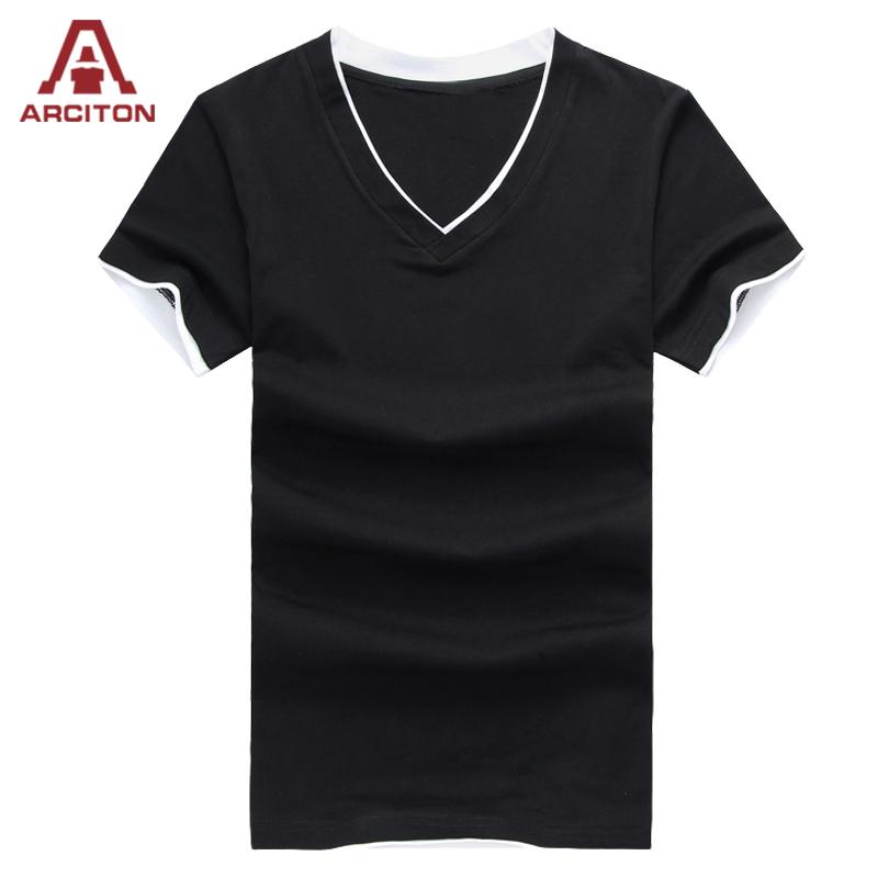 2016 Fashion Design V Neck T Shirts For Men Summer Cool T ...