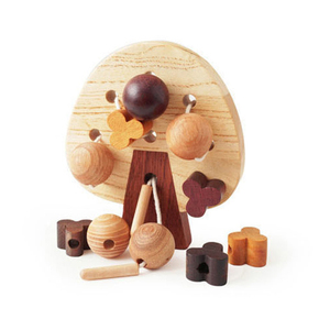 Wholesale baby toys wooden asian zoo for play area