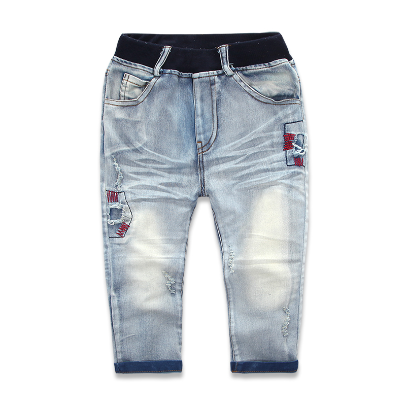 5ca6adcb9 Buy 2015 New Arrival Brand Kids Boys Jeans Pants Elastic Waist Children  Ripped Jeans For Boy 2-7 Years Boys Casual Denim Pants in Cheap Price on  m.alibaba. ...