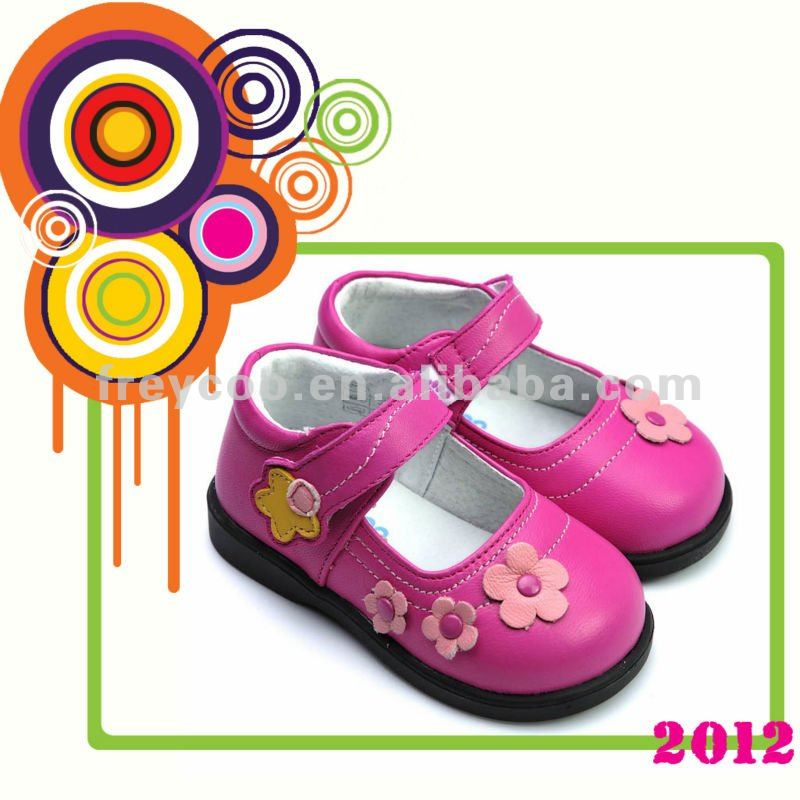 New arrival style fashionable leather kids shoes PB-8016HP