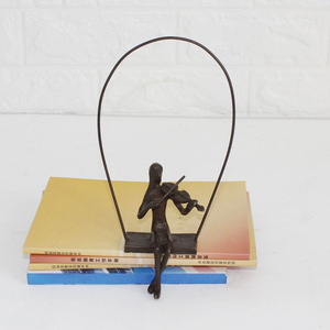 Musician playing violin sculptures with antique bronze finish
