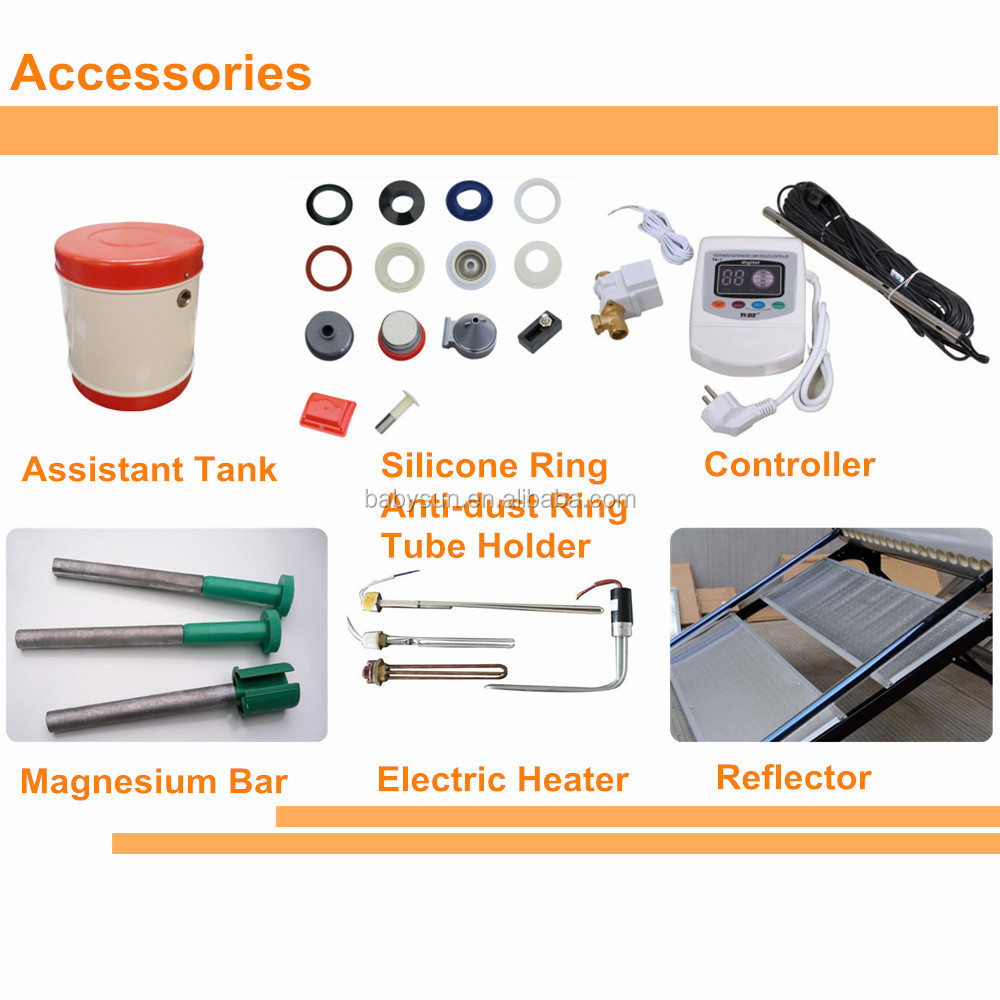 Hot Water Heater Accessories 2015 China Factory Compact Non Pressure Solar Water Heater Price