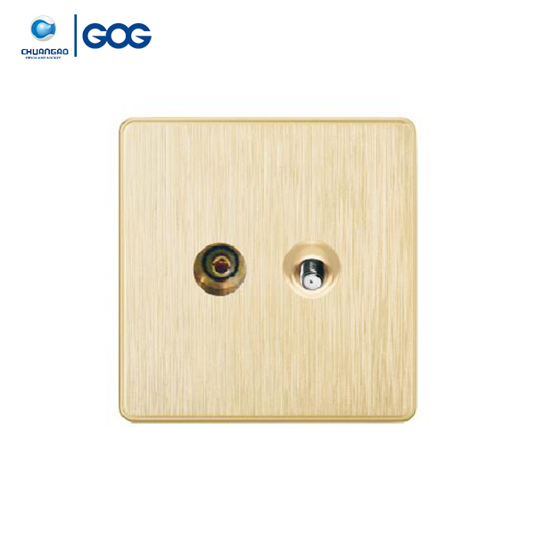 GOG new design product CRT TV socket+TV satellite socket