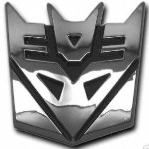 Autobot Chrome Finish PVC Car Auto Emblem 5 Tall