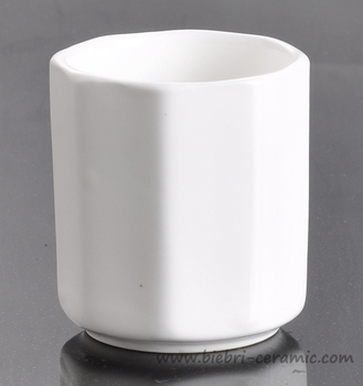 plain white logo decal customized ceramic coffee mugs cups without handles for wholesale