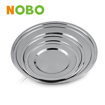 Stainless steel round plate Shallow plate with bead edge