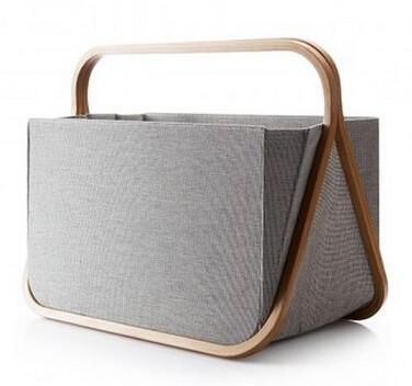 versatile bamboo and fabric folding laundry basket modern laundry bag