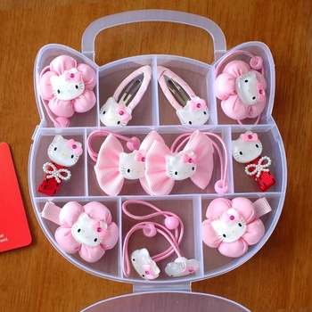 Set Hair Clips Hello Kitty Fancy Clip Band For S Kids Babies