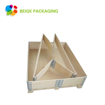 Custom nailless collapsible wood crate pallet collar box for transport