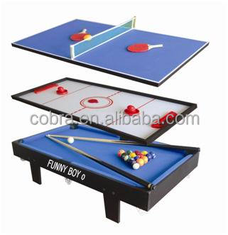 3 In 1 Mini Game Table(pool Table, Air Hockey Table And Table Tennis