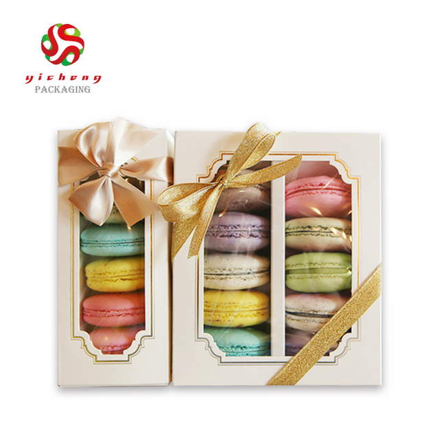 OEM Design decorative colorful packaging Macarons cake boxes