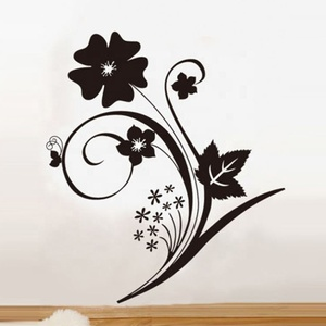 Home beautification black PVC wall decal sticker