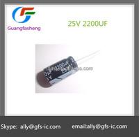 2200UF 25V 13*21mm Aluminum electrolytic capacitors