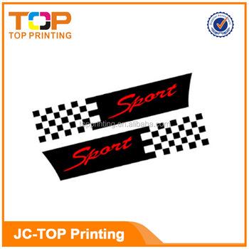 Custom reflective striker bumper stickerswindow car laser cut vinyl decal stickers