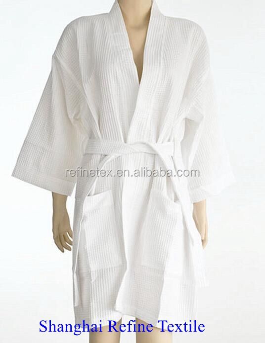 spa robes wholesale,supply plain waffle spa robe