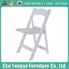 Padded white resin chair supplier from china