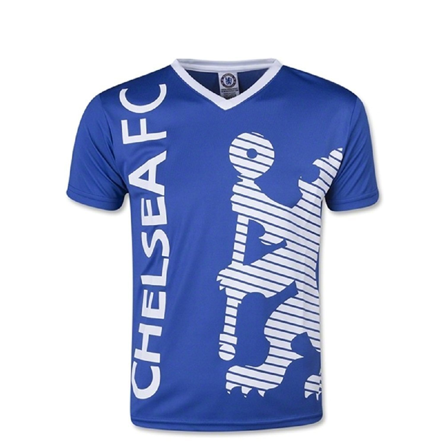 c9b71ac7c88 Get Quotations · Chelsea FC Youth Soccer Training Jersey-Blue/White  Customized Any Name