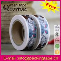 Qcustom colorful washi paper tape and planners for scrapbooking