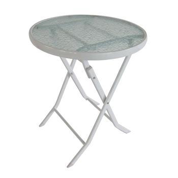 60cm Jardin Extérieur Rond En Métal Verre Table Pliable - Buy Table  Pliante,Table De Jardin En Verre Métallique,Table Extérieure Ronde En Verre  ...