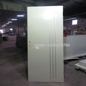 2015 Cheap used interior steel doors wooden edge knock down frame for sale in Guangzhou