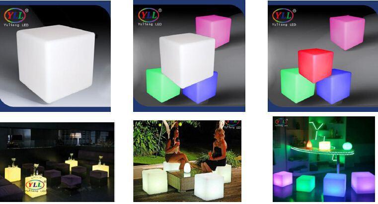 Led Furniture Led Cube With Ce Rohs Led Work Light Led Plastic Rgb Light Up  Magic