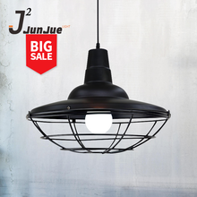 Decoration Pendant Light Industrial Hanging Chandelier Lamp Loft Vintage Lamp New Lantern Round Shape Retro Iron Ceiling Light