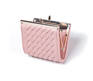 Woven metal coin purse for ladies coin holder