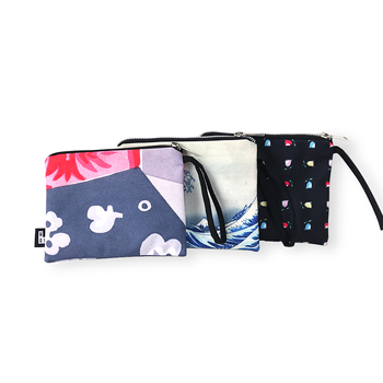 fashion polyester zipper makeup bag with lining