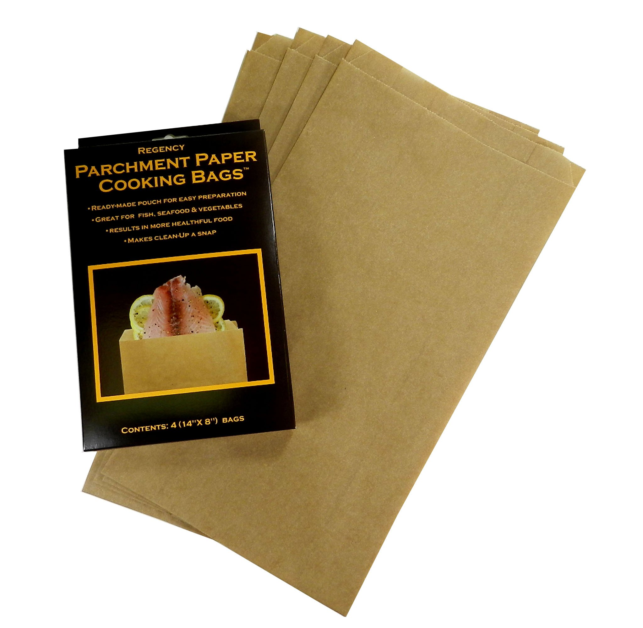 Regency Wraps RW1142 Parchment Paper Cooking Bags For Cooking & Papillote, Set of 4