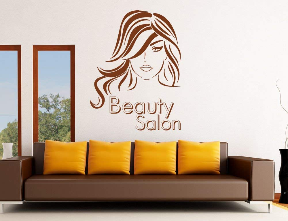 Wall Decal Sticker beauty salon girl hair haircut makeup manicure nail Wall Mural, Removable Sticker, Home Decor