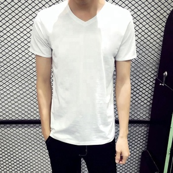 59d9fed2cd5 Cheap Price Wholesale V Neck Blank White Men T- Shirt - Buy V Neck T ...