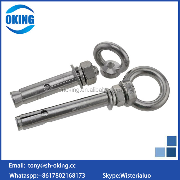 China manufacturer stainless steel Galvanized expansion anchor eye bolt