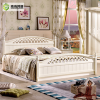 Modern China Foshan Malaysia MDF Wooden Bedroom Furniture Set Wood Double Bed Designs with Box