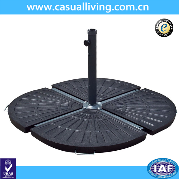 Outdoor black patio umbrella stand resin parasol base