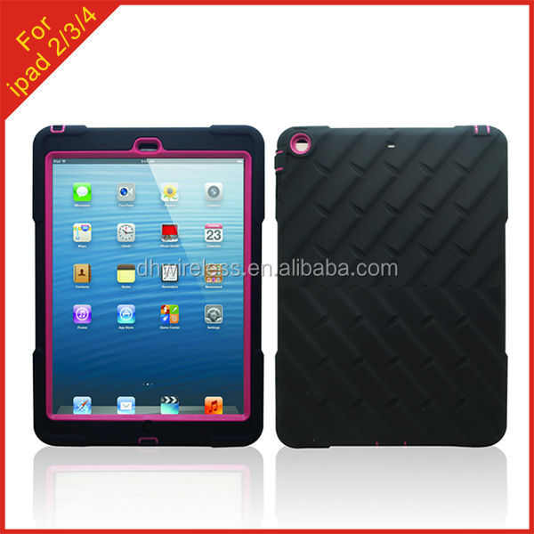 hot new products 2014 for Apple iPad 2 tire grain robot case