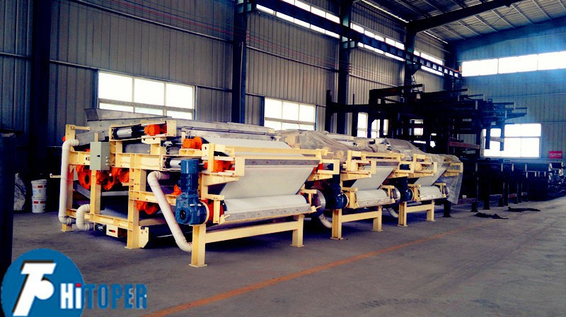 The under sink water filtration belt filter press price equipment used in the sludge and wasting water treatment.